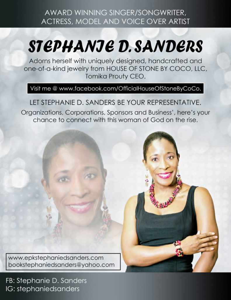 Stephanie D. Sanders - Featured Jewelry Model for House of Stone by Coco LLC